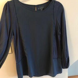 Ann Taylor Loft 3/4 sleeve dress shirt